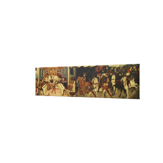 The Story of Alatiel, on Horseback and at a Banque Canvas Print