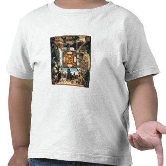 The Story of David, painted tabletop, 1534 (oil on Tee Shirt
