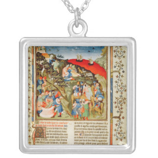 The Story of Joseph, illustration Silver Plated Necklace