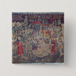 The Story of Jourdain de Blaye, Arras Workshop 15 Cm Square Badge