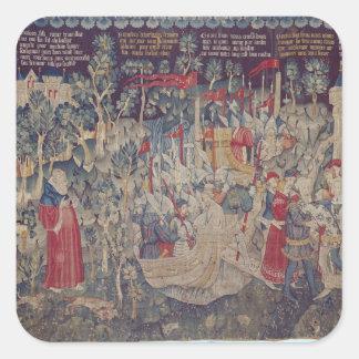 The Story of Jourdain de Blaye, Arras Workshop Square Sticker