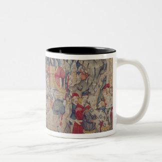 The Story of Jourdain de Blaye, Arras Workshop Two-Tone Coffee Mug