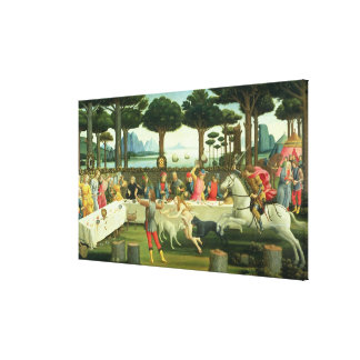 The Story of Nastagio degli Onesti Stretched Canvas Print