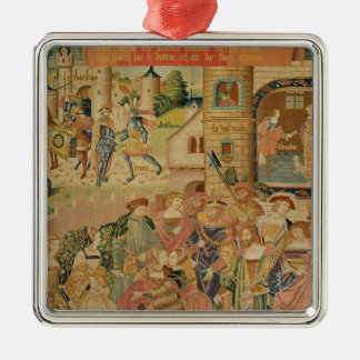 The Story of Perseus, 15th-16th century Silver-Colored Square Decoration