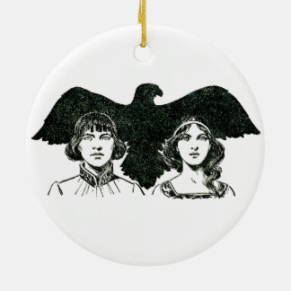 ~ The Story of the Falcon Illustrated ~ Christmas Ornament