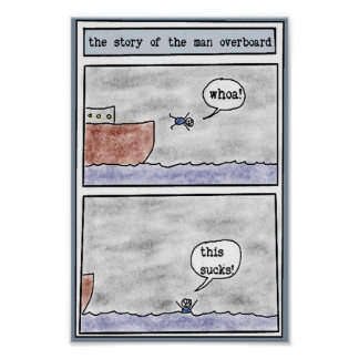 the story of the man overboard poster