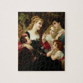 The Storyteller, 1874 (oil on canvas) Jigsaw Puzzle