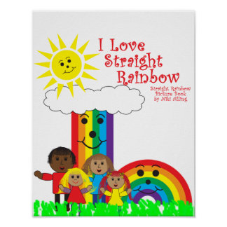 The Straight Rainbow Poster