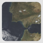 The Strait of Gibraltar Square Stickers