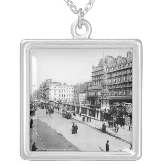 The Strand and Charing Cross Station, London Silver Plated Necklace
