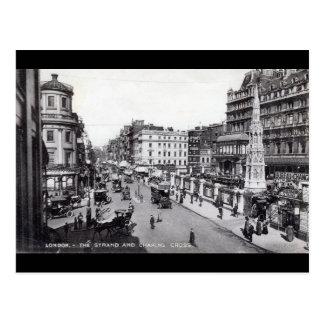 The Strand, London England Vintage Postcard