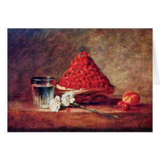 The Strawberry Basket By Chardin Jean-Baptiste Sim Card
