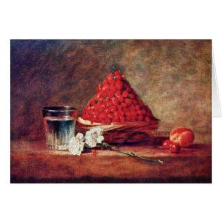 The Strawberry Basket By Chardin Jean-Baptiste Sim Greeting Card