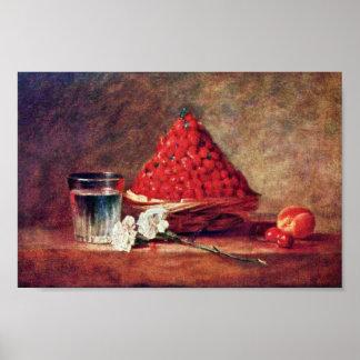 The Strawberry Basket By Chardin Jean-Baptiste Sim Poster