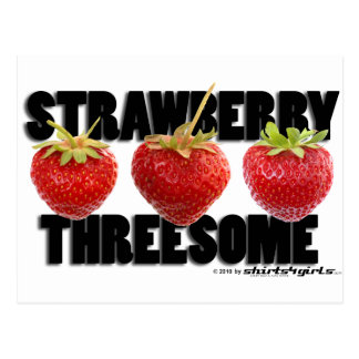 The Strawberry Threesome Postcard