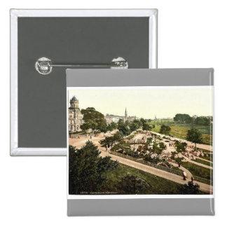 The Stray, Harrogate, England rare Photochrom Pinback Button