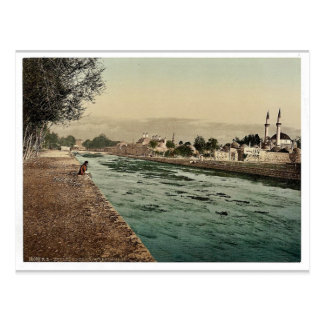 The stream of Barada, Damascus, Holy Land, (i.e. S Postcard