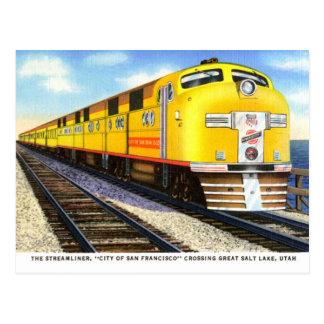 The Streamliner Vintage Postcard
