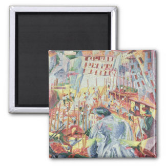 The Street Enters the House, 1911 Square Magnet