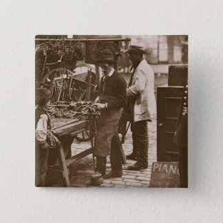The Street Locksmith, from 'Street Life in London' 15 Cm Square Badge