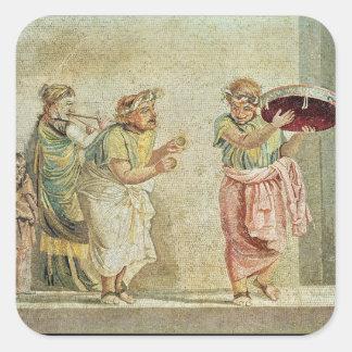 The Street Musicians, c.100 BC Square Sticker