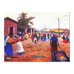 THE STREET OF AFRICA BY MOJISOLA A GBADAMOSI OKUBU STRETCHED CANVAS PRINT