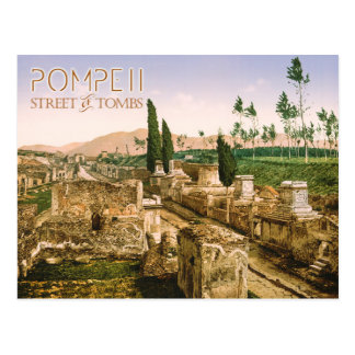 The Street of Tombs, Pompeii, Italy Postcard