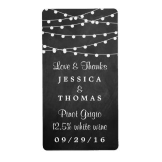 The String Lights On Chalkboard Wedding Collection