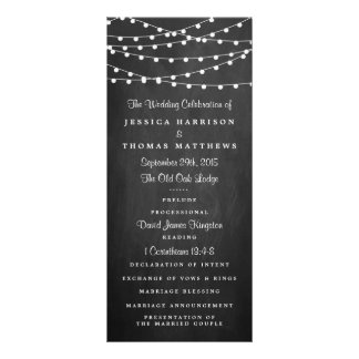 The String Lights On Chalkboard Wedding Collection 10 Cm X 23 Cm Rack Card