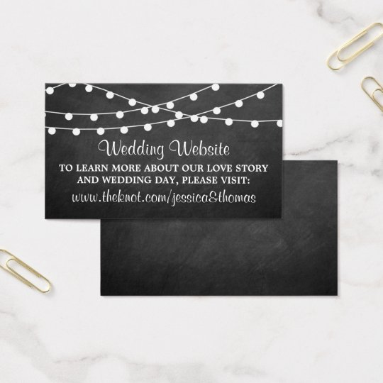 The String Lights On Chalkboard Wedding Collection Business