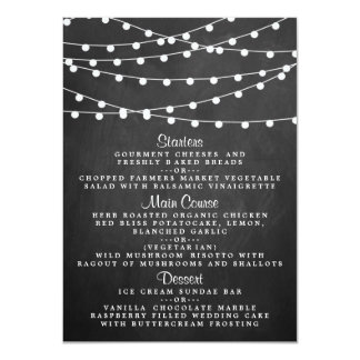 The String Lights On Chalkboard Wedding Collection Card
