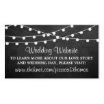 The String Lights On Chalkboard Wedding Collection Pack Of Standard Business Cards
