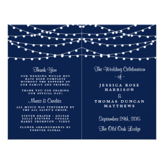 The String Lights On Navy Blue Wedding Collection 21.5 Cm X 28 Cm Flyer