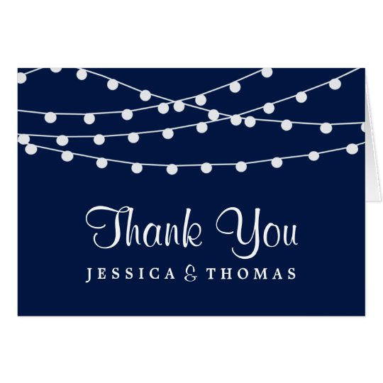 The String Lights On Navy Blue Wedding Collection