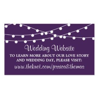 The String Lights On Purple Wedding Collection Pack Of Standard Business Cards