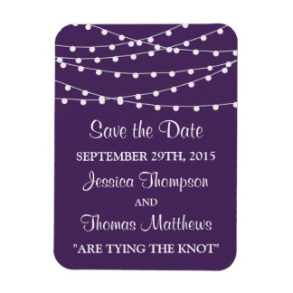 The String Lights On Purple Wedding Collection Rectangular Photo Magnet