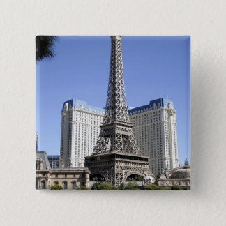The Strip, Paris Las Vegas, Luxury Hotel 15 Cm Square Badge