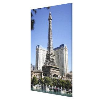 The Strip, Paris Las Vegas, Luxury Hotel Canvas Print