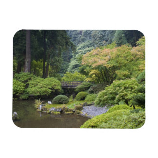 The Strolling Pond with Moon Bridge Rectangular Photo Magnet