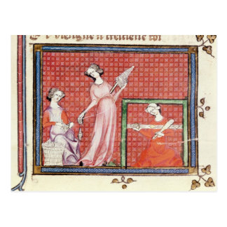 The Strong Woman of the Scriptures Spinning Postcard