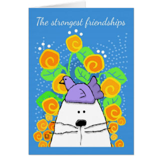 The Strongest Friendships, Cat and Bird Greeting Card