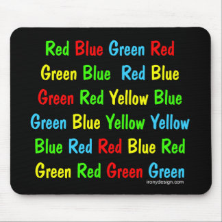 The Stroop Test Mouse Mat