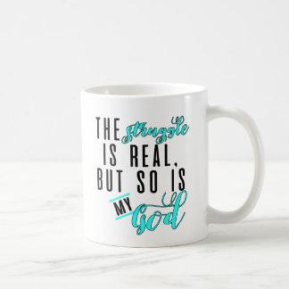 The Struggle Is Real Blue Coffee Mug