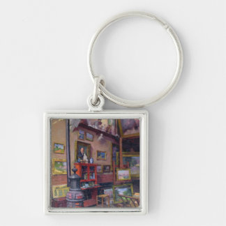 The Studio 50, rue Saint-Didier Silver-Colored Square Key Ring