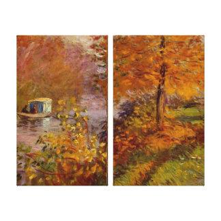 The Studio Boat by Claude Monet Canvas Print