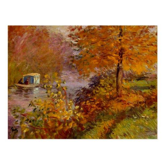 The Studio Boat by Claude Monet Fine Art