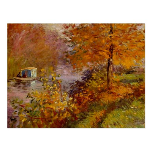 The Studio Boat by Claude Monet Postcards