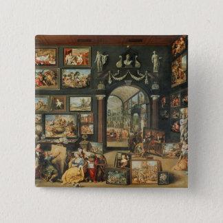 The Studio of Apelles 15 Cm Square Badge
