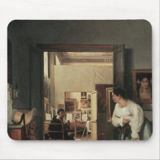 The Studio of Ingres in Rome, 1818 Mouse Mat