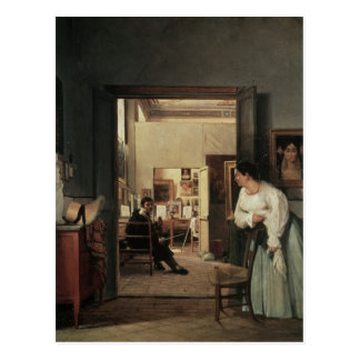 The Studio of Ingres in Rome, 1818 Postcard